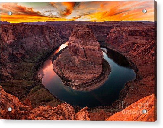 Horseshoe Bend, Colorado River, Page, Arizona  Acrylic Print