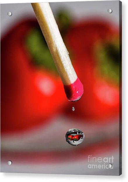 Hot Pepper Drops Acrylic Print