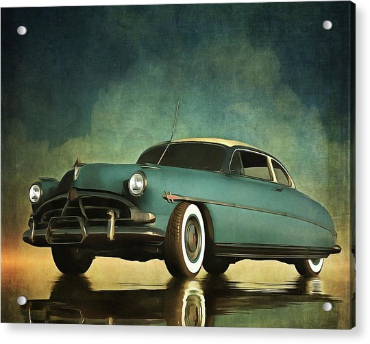 Acrylic Print featuring the painting Hudson Hornet Oldtimer by Jan Keteleer