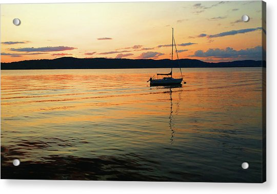 Hudson River From Irvington In Westchester County Acrylic Print