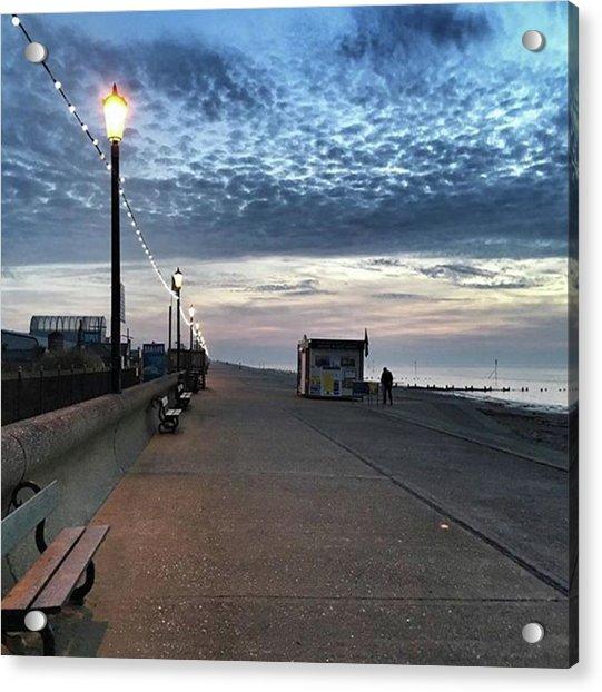 Hunstanton At 5pm Today  #sea #beach Acrylic Print