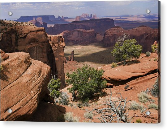 Hunt's Mesa And Monument Valley Acrylic Print