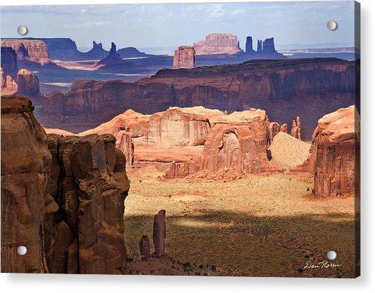Hunt's Mesa Spotlighting Acrylic Print