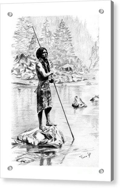Hupa Fisherman Acrylic Print