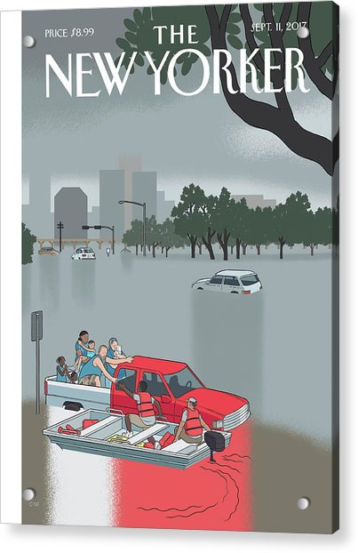 Hurricane Harvey Acrylic Print