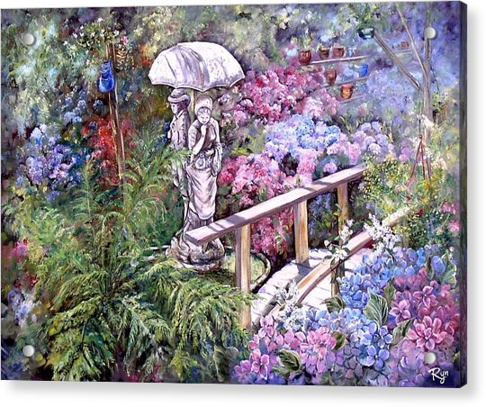 Hydrangea In The Formosa Gardens Acrylic Print