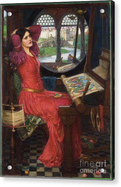 I Am Half-sick Of Shadows, Said The Lady Of Shalott Acrylic Print
