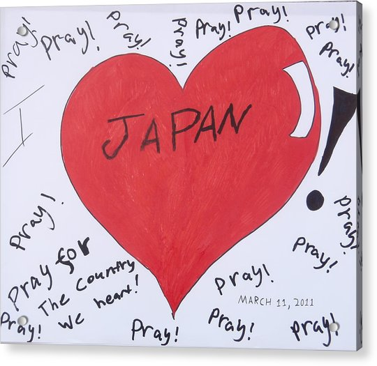 I Love Japan By Erik Akerman Acrylic Print