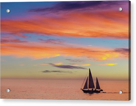 I Will Sail Away, And Take Your Heart With Me Acrylic Print