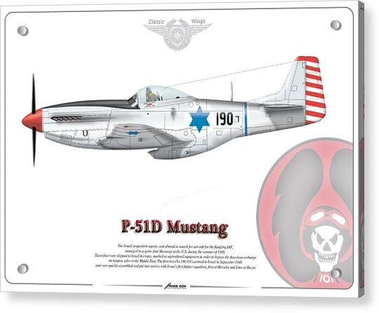 Iaf First P-51d Mustang Acrylic Print