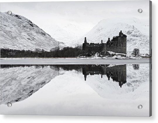 Ice And Snow At Loch Awe Acrylic Print