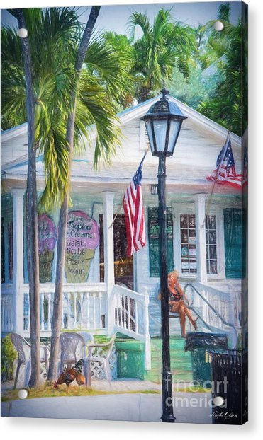 Ice Cream In Key West Acrylic Print