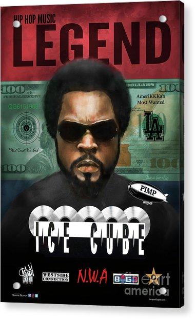 Acrylic Print featuring the digital art Ice Cube  by Dwayne Glapion