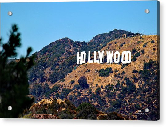 Iconic Hollywood Sign Acrylic Print