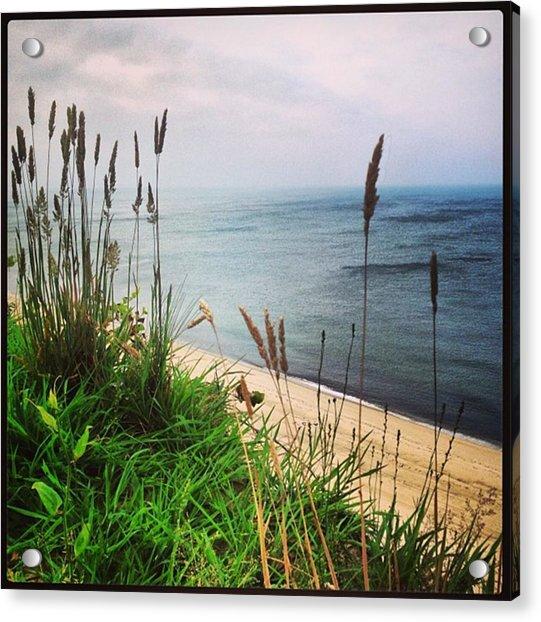 #igaddict #iphonesia #beach #cliff Acrylic Print by Ben Berry