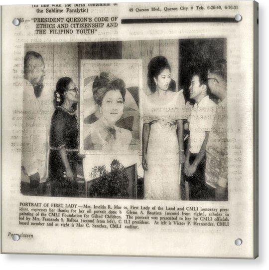 Imelda Marcos 1967 B Acrylic Print