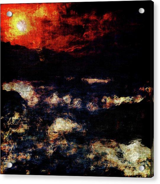 Acrylic Print featuring the painting Impression Of A Seaview by Jan Keteleer
