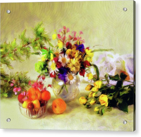 Impressions Of A Very Yellow Morning  Acrylic Print