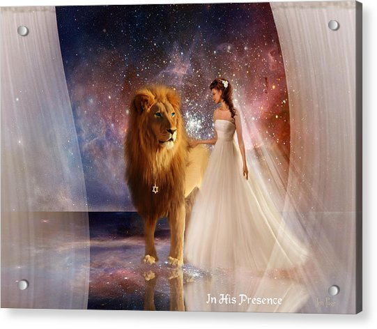 In His Presence  With Title Acrylic Print