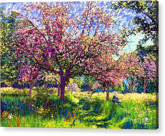 In Love With Spring, Blossom Trees Acrylic Print