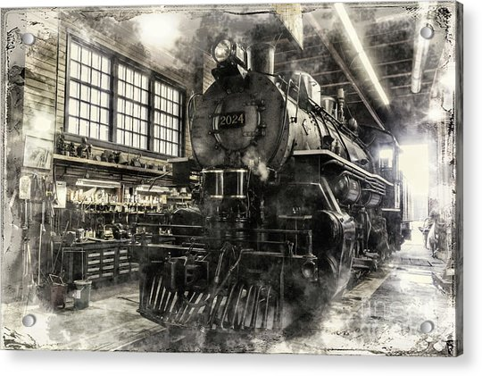 In The Roundhouse Acrylic Print