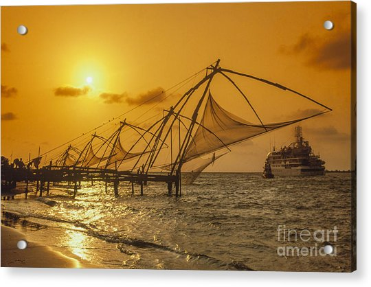 Acrylic Print featuring the photograph India Cochin by Juergen Held