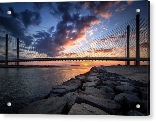 Indian River Inlet And Bay Sunset Acrylic Print