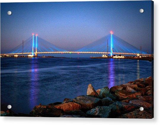 Indian River Inlet Bridge Twilight Acrylic Print