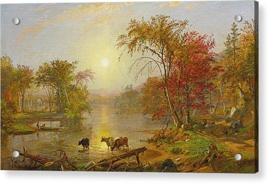 Indian Summer On The Susquehanna Acrylic Print