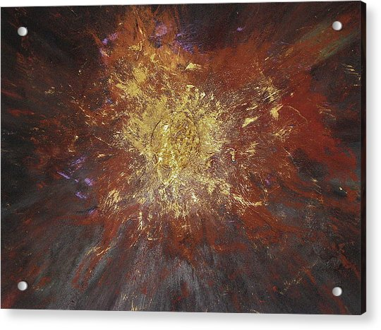 Acrylic Print featuring the painting Inner Fire by Michael Lucarelli