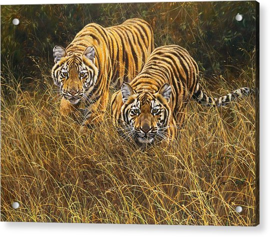 Acrylic Print featuring the painting Intent by Alan M Hunt
