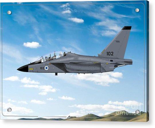 Israeli Air Force Airmacchi M-346i Master Lavi In Flight Acrylic Print