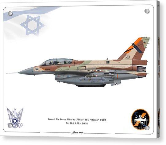 Israeli Air Force F-16d Barak - Ftc Acrylic Print