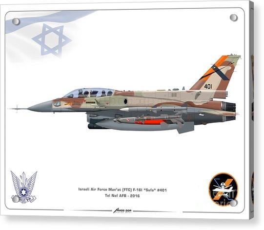 Israeli Air Force F-16i Sufa - Ftc Acrylic Print
