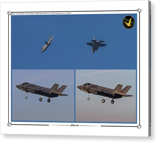 Israeli Air Force First Two F-35i Adir Acrylic Print