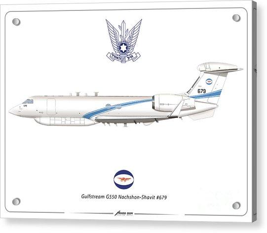 Israeli Air Force Gulfstream G550 #679 Acrylic Print
