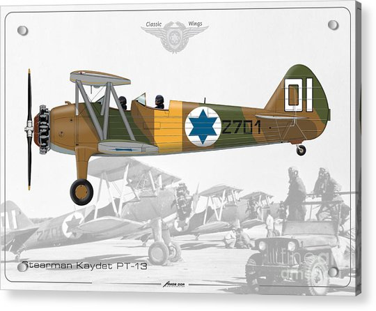 Israeli Air Force Stearman Kaydet Pt-13 Acrylic Print