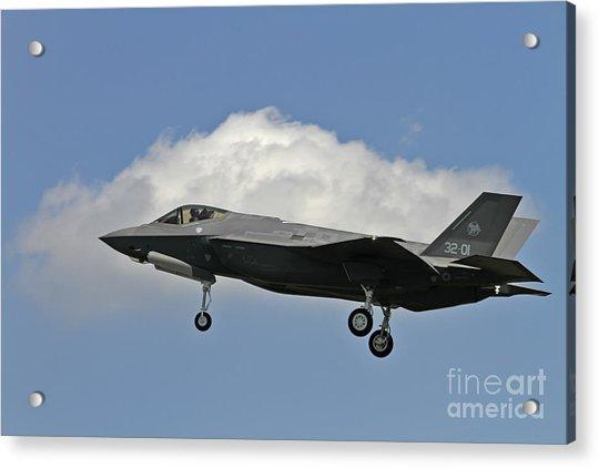 Italian Air Force F-35 Lightning II First Flight Acrylic Print