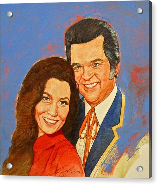 Acrylic Print featuring the painting Its Country - 12 Loretta Lynn Conway Twitty by Cliff Spohn