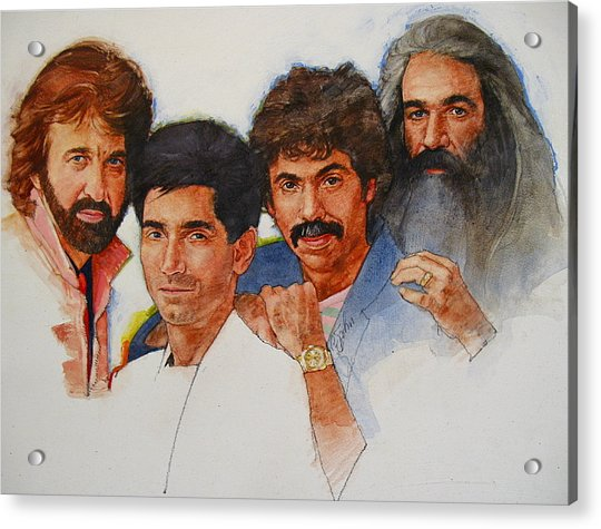 Acrylic Print featuring the painting Its Country 4 - Oakridge Boys by Cliff Spohn