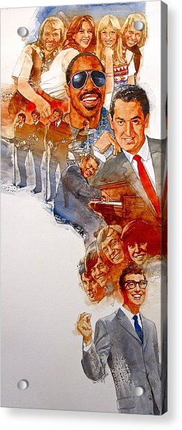 Acrylic Print featuring the painting Its Rock And Roll 2 by Cliff Spohn