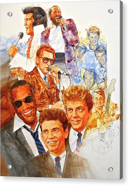 Acrylic Print featuring the painting Its Rock And Roll 3 by Cliff Spohn