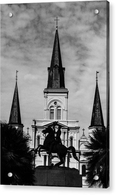 Jackson Square - Monochrome Acrylic Print