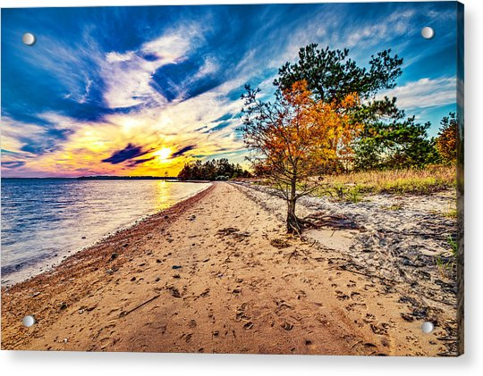 James River Sunset Acrylic Print
