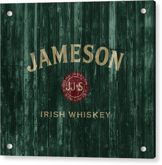 Jameson Irish Whiskey Barn Door Acrylic Print