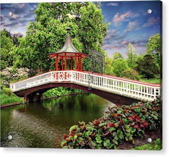 Japanese Bridge Garden Acrylic Print