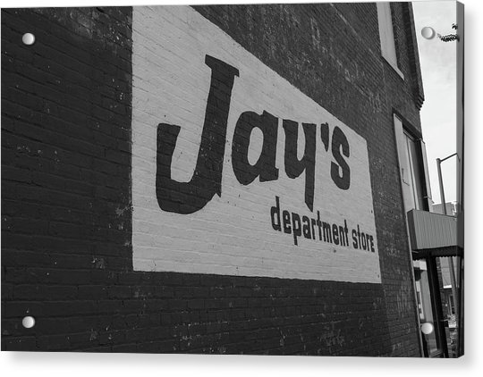 Jay's Department Store In Bw Acrylic Print