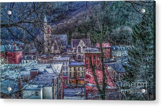 Jim Thorpe Pennsylvania In Winter #1 Acrylic Print