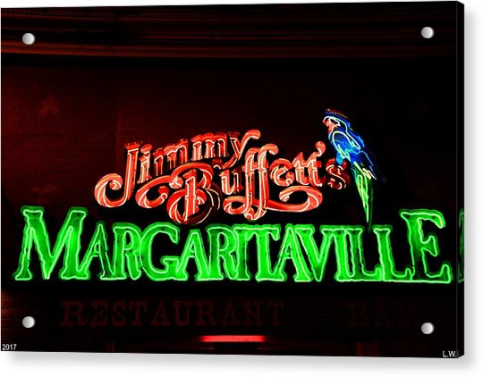 Jimmy Buffett's Margaritaville Acrylic Print