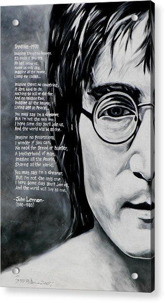 John Lennon - Imagine Acrylic Print